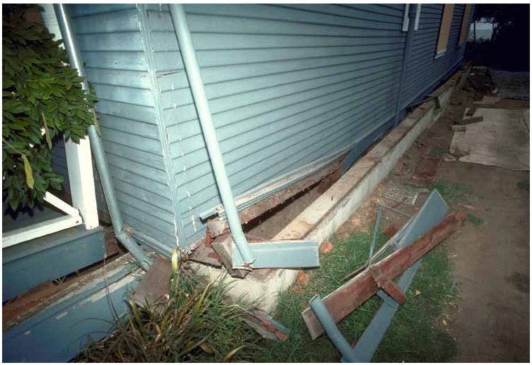 House Without Bolts Slid Off Foundation