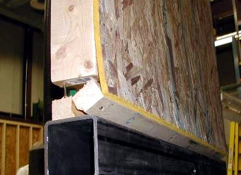 Cross Grain bending caused by shear wall overturning