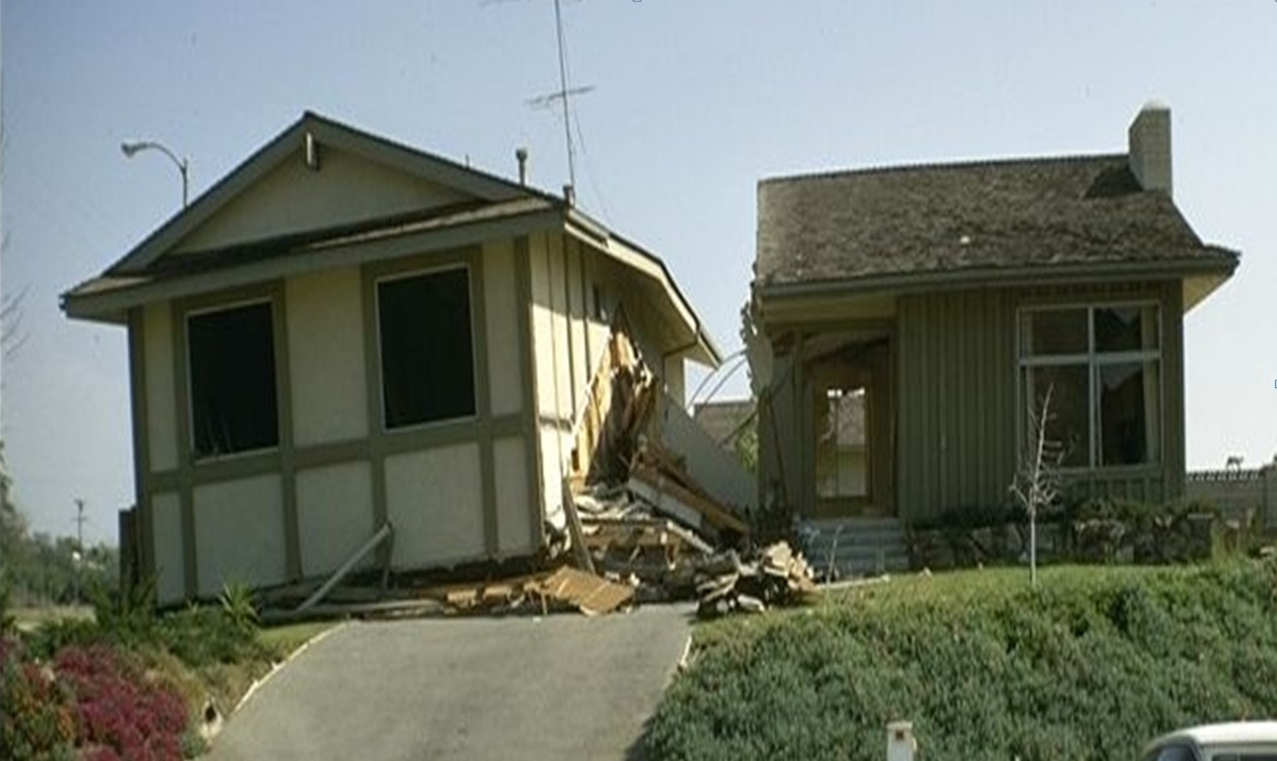 THIS SOFT STORY HOME IN SAN FERNANDO WAS DAMAGED BECAUSE THE LIVING AREA ABOVE THE GARAGE WAS NOT ATTACHED TO FOUNDATION AT THE FRONT