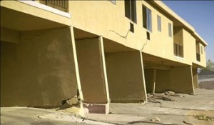 This soft story building was many miles away from the Northridge Earthquake