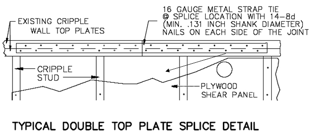 Retrofit Guidelines for double top plate splice