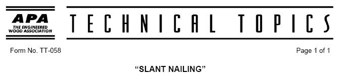 Slant Nailing