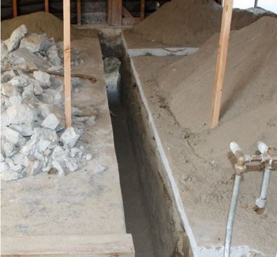Concrete Trench for a Simpson Strongwall Retrofit