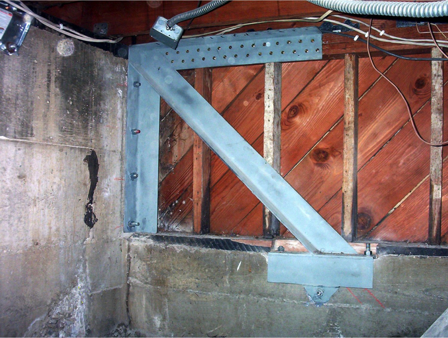 Primary anchor used in hillside home retrofits