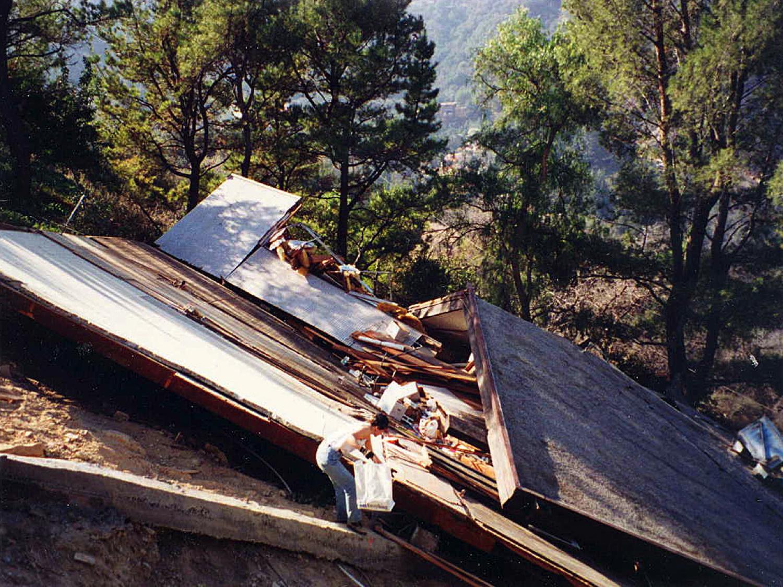 More hillside home earthquake damage
