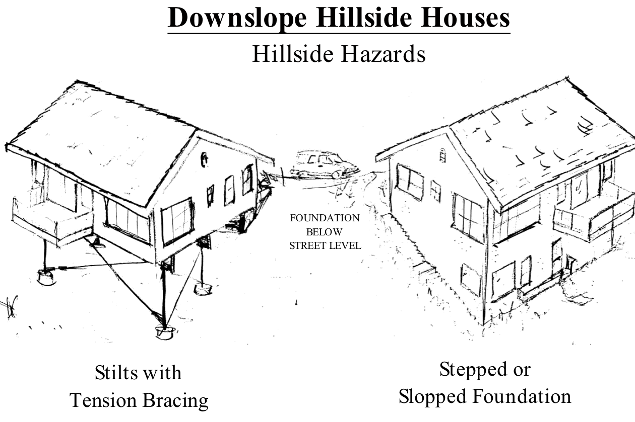 Hillside home, one needs a retrofit