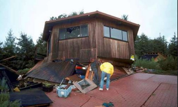 This is another soft story home that collapsed in the 1989 Loma Prieta Earthquake