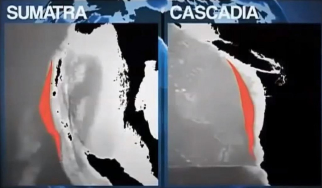 Bay Area Earthquakes are mirrored by the Sumatra and Cascadia Faults.