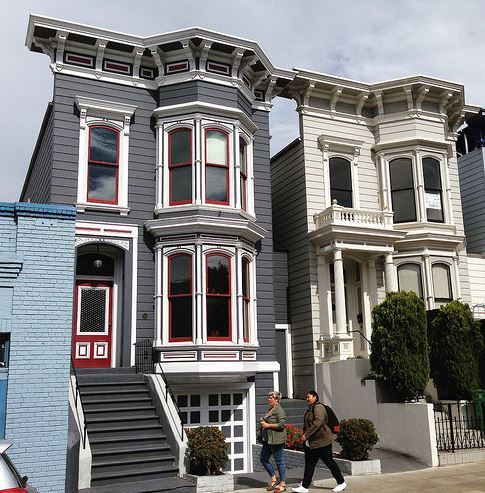Soft story Victorian homes are common in San Francisco